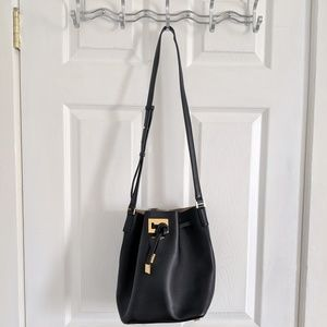 ed2d999430c9 Michael Kors. Michael Kors Miranda Bucket Bag Black Gold Hardwar
